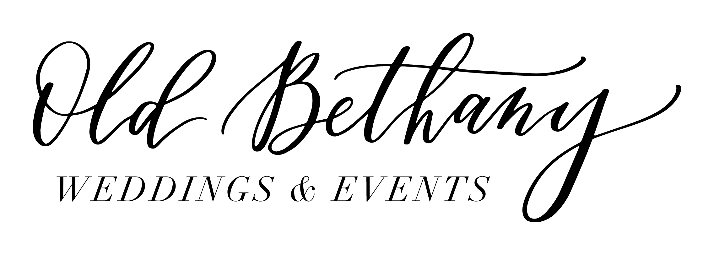 Old Bethany Wide Black Text Transparent Old